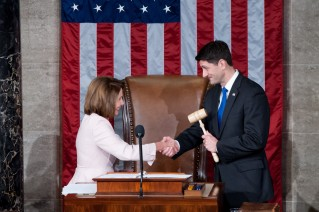 Image result for nancy Pelosi takes gavel from Ryan